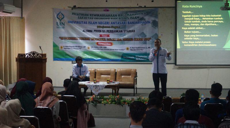 FEBI dan Alumni PS Mengadakan Seminar Kewirausahaan