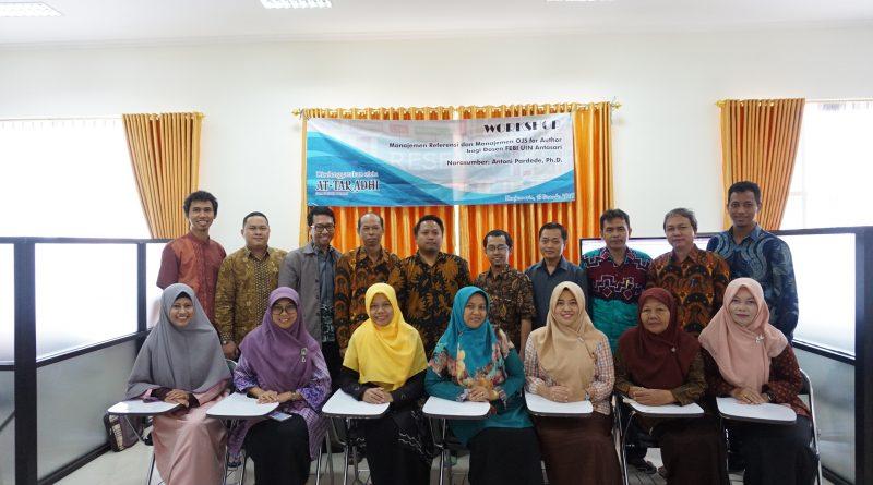 FEBI Mengadakan Workshop Jurnal